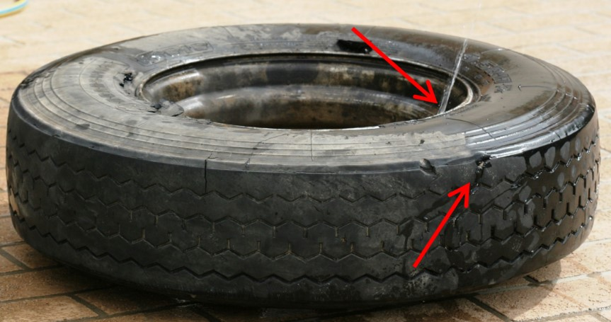 Blown Steer Tyre