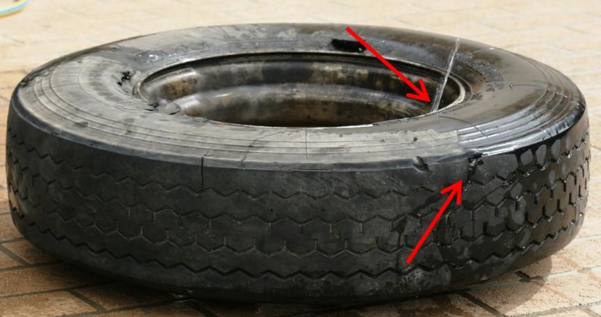 Blown Steer Tyre