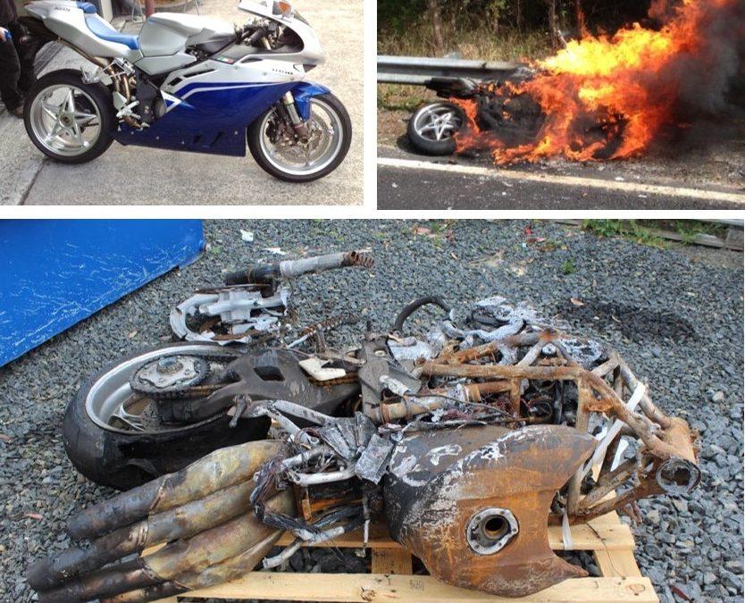 Prestige Motorbike Fire