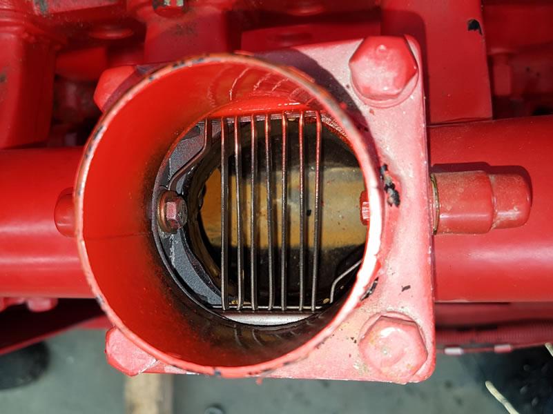 Truck engine inlet